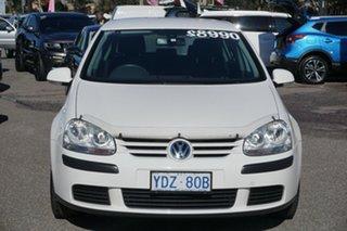 2005 Volkswagen Golf V Comfortline Tiptronic Candy White 6 Speed Sports Automatic Hatchback.