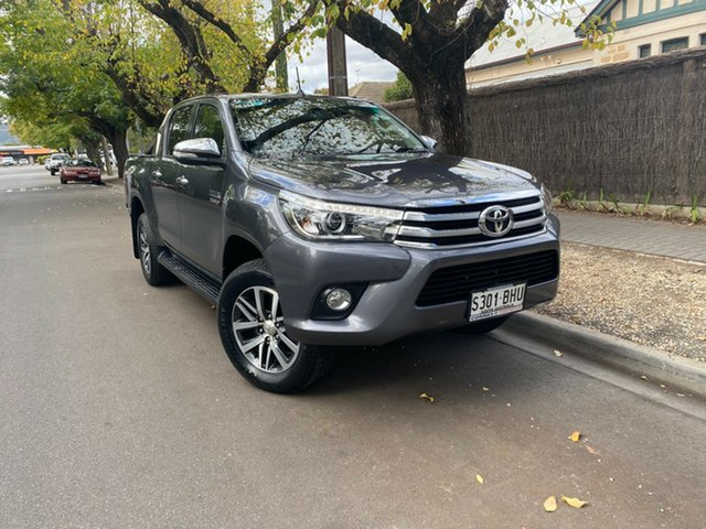 Pre-Owned Toyota Hilux GUN126R SR5 Double Cab Hawthorn, 2015 Toyota Hilux GUN126R SR5 Double Cab Grey 6 Speed Sports Automatic Utility