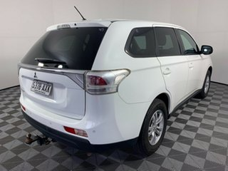 2013 Mitsubishi Outlander ZJ MY14 LS 4WD White 6 Speed Constant Variable Wagon
