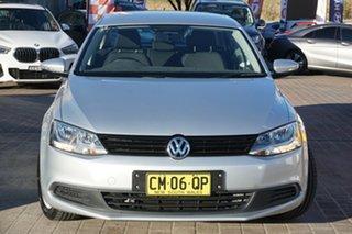 2013 Volkswagen Jetta 1B MY13.5 118TSI Silver 6 Speed Manual Sedan.