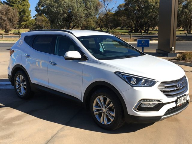 Used Hyundai Santa Fe DM3 MY16 Elite Berri, 2016 Hyundai Santa Fe DM3 MY16 Elite White 6 Speed Sports Automatic Wagon