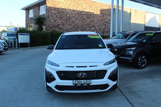 2021 Hyundai Kona Os.v4 MY21 N-Line D-CT AWD Atlas White 7 Speed Sports Automatic Dual Clutch Wagon.