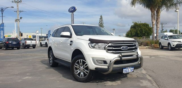 Used Ford Everest UA II 2019.75MY Trend Morley, 2019 Ford Everest UA II 2019.75MY Trend White 6 Speed Sports Automatic SUV