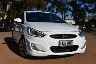 2016 Hyundai Accent RB4 MY16 SR White 6 Speed Manual Hatchback.