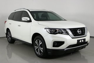 2018 Nissan Pathfinder R52 MY17 Series 2 ST (4x2) White Continuous Variable Wagon.