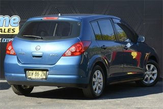 2008 Nissan Tiida C11 MY07 ST-L Blue 6 Speed Manual Hatchback