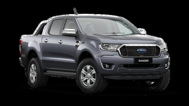 New Ford Ranger XLT Double Cab Hamilton, 2021 Ford Ranger PX MkIII XLT Double Cab Meteor Grey 6 Speed Automatic Pick Up