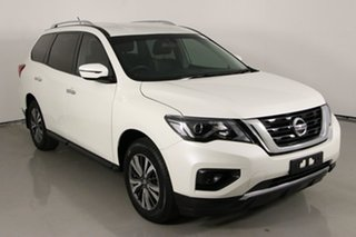 2018 Nissan Pathfinder R52 MY17 Series 2 ST (4x2) White Continuous Variable Wagon
