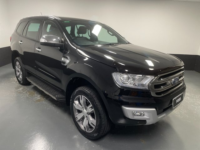 Used Ford Everest UA Titanium Hamilton, 2017 Ford Everest UA Titanium Black 6 Speed Sports Automatic SUV