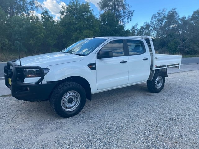 Used Ford Ranger PX MkII XL Wodonga, 2016 Ford Ranger PX MkII XL White Sports Automatic Cab Chassis