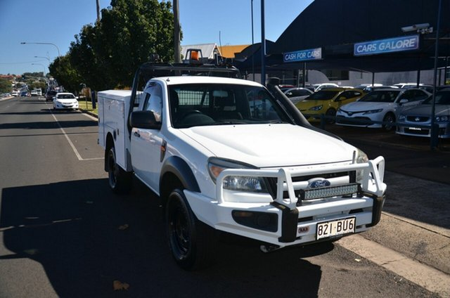 Used Ford Ranger PK XL (4x4) Toowoomba, 2010 Ford Ranger PK XL (4x4) White 5 Speed Manual Cab Chassis
