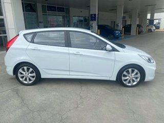 2017 Hyundai Accent RB6 MY19 Sport Chalk White 6 Speed Sports Automatic Hatchback