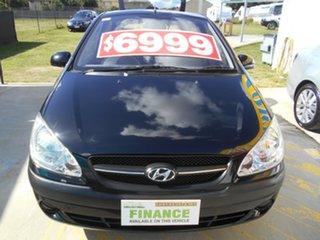 2010 Hyundai Getz TB MY09 S Black 5 Speed Manual Hatchback.