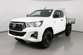 2018 Toyota Hilux GUN126R MY19 SR (4x4) White 6 Speed Manual X Cab Cab Chassis.