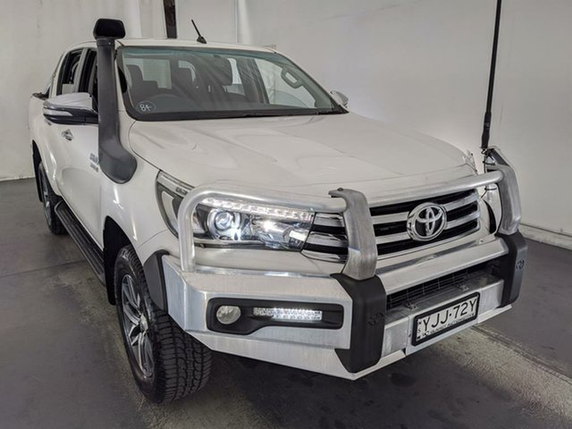 Used Toyota Hilux GUN126R SR5 Double Cab Maryville, 2015 Toyota Hilux GUN126R SR5 Double Cab White 6 Speed Sports Automatic Utility