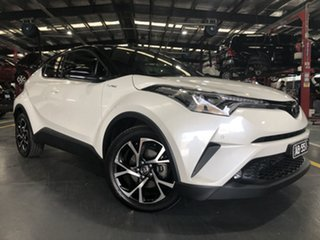 2018 Toyota C-HR NGX10R Koba S-CVT 2WD Crystal Pearl & Black Roof 7 Speed Constant Variable Wagon.