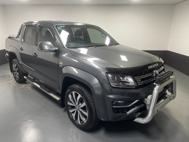 Used Volkswagen Amarok 2H MY19 TDI580 4MOTION Perm Ultimate Hamilton, 2019 Volkswagen Amarok 2H MY19 TDI580 4MOTION Perm Ultimate Indium Grey 8 Speed Automatic Utility