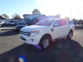 2015 Ford Ranger PX XLT Double Cab Cool White 6 Speed Automatic Utility.