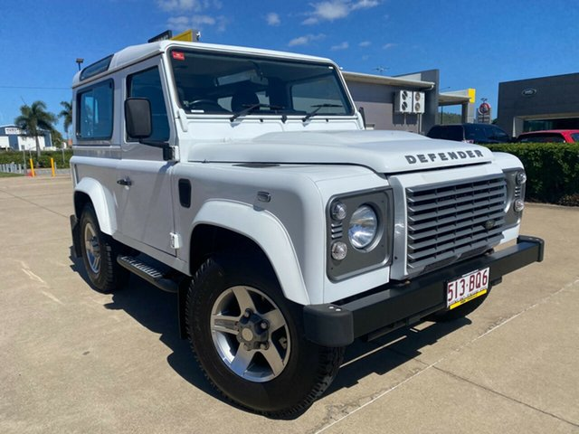 Used Land Rover Defender 90 15MY Townsville, 2014 Land Rover Defender 90 15MY White/060315 6 Speed Manual Wagon