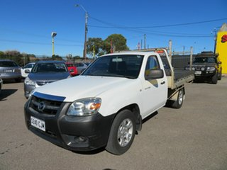 2009 Mazda BT-50 08 Upgrade B2500 DX White 5 Speed Manual Cab Chassis.