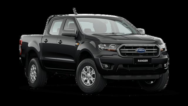 New Ford Ranger PX MkIII 2021.25MY XLS Hamilton, 2021 Ford Ranger PX MkIII 2021.25MY XLS Shadow Black 6 Speed Sports Automatic Double Cab Pick Up