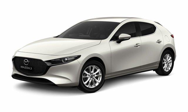 Demo Mazda 3 BP2H7A G20 SKYACTIV-Drive Pure Toowoomba, 2020 Mazda 3 BP2H7A G20 SKYACTIV-Drive Pure White 6 Speed Sports Automatic Hatchback