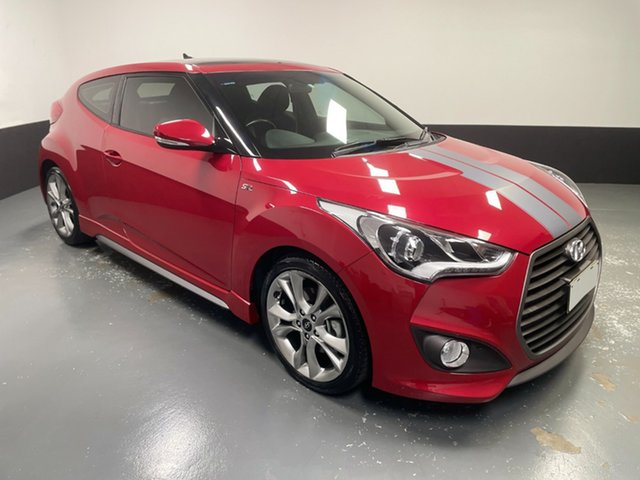 Used Hyundai Veloster FS5 Series II SR Coupe D-CT Turbo Hamilton, 2017 Hyundai Veloster FS5 Series II SR Coupe D-CT Turbo Red 7 Speed Sports Automatic Dual Clutch