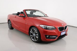 2015 BMW 220i F23 Sport Line Red 8 Speed Automatic Convertible.