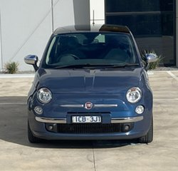 2013 Fiat 500 Series 1 Lounge Dualogic Blue 5 Speed Sports Automatic Single Clutch Hatchback.