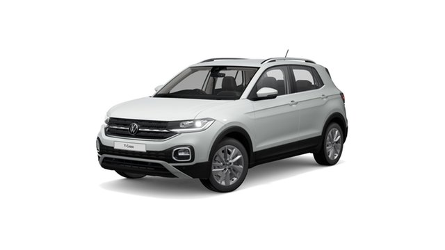 New Volkswagen T-Cross C1 MY21 85TSI DSG FWD Style Hamilton, 2021 Volkswagen T-Cross C1 MY21 85TSI DSG FWD Style Pure White 7 Speed Sports Automatic Dual Clutch