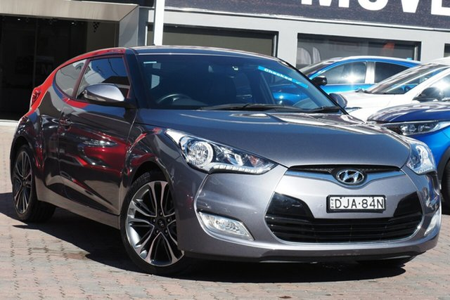 Used Hyundai Veloster FS5 Series II Coupe D-CT Parramatta, 2016 Hyundai Veloster FS5 Series II Coupe D-CT Grey 6 Speed Sports Automatic Dual Clutch Hatchback