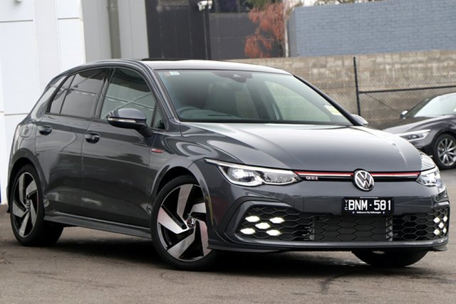 Demo Volkswagen Golf 8 MY21 GTI DSG Port Melbourne, 2021 Volkswagen Golf 8 MY21 GTI DSG Grey 7 Speed Sports Automatic Dual Clutch Hatchback