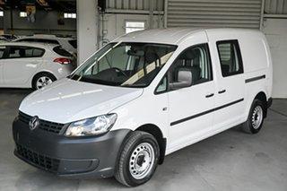 2014 Volkswagen Caddy 2KN MY15 TDI250 BlueMOTION Maxi White 5 Speed Manual Van.