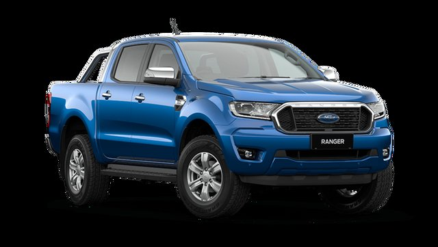 New Ford Ranger XLT Double Cab Cardiff, 2021 Ford Ranger PX MkIII XLT Double Cab Blue Lightning 6 Speed Manual Pick Up