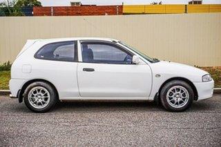 1996 Mitsubishi Mirage CE White 4 Speed Automatic Hatchback.