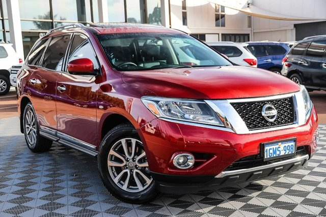 Used Nissan Pathfinder R52 MY14 ST-L X-tronic 2WD Attadale, 2014 Nissan Pathfinder R52 MY14 ST-L X-tronic 2WD Red 1 Speed Constant Variable Wagon