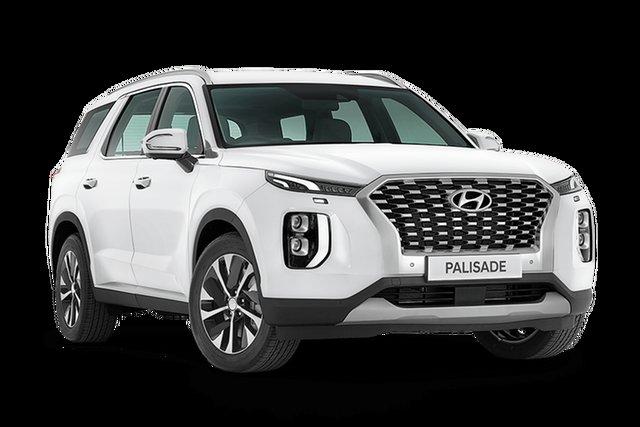 Demo Hyundai Palisade LX2.V1 MY21 AWD Hamilton, 2021 Hyundai Palisade LX2.V1 MY21 AWD White Cream 8 Speed Sports Automatic Wagon