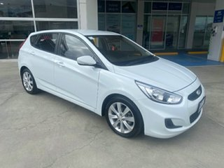 2017 Hyundai Accent RB6 MY19 Sport Chalk White 6 Speed Sports Automatic Hatchback.
