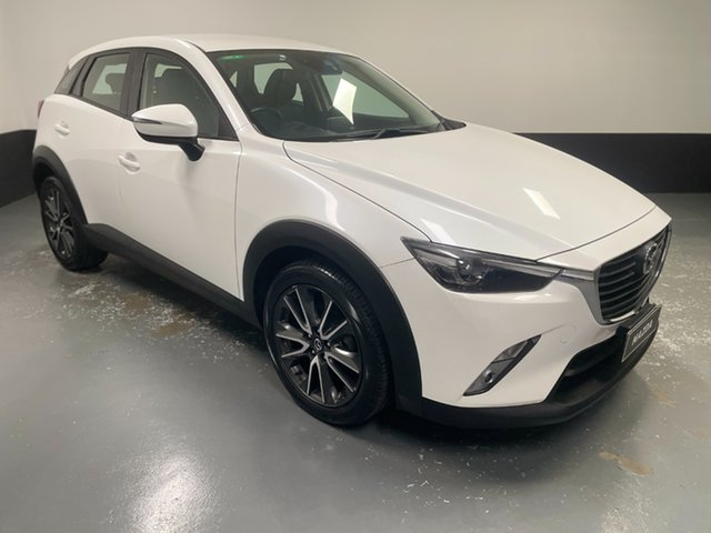 Used Mazda CX-3 DK2W7A sTouring SKYACTIV-Drive Hamilton, 2016 Mazda CX-3 DK2W7A sTouring SKYACTIV-Drive White 6 Speed Sports Automatic Wagon