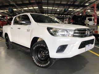 2016 Toyota Hilux GUN126R SR Double Cab Glacier White 6 Speed Sports Automatic Utility.