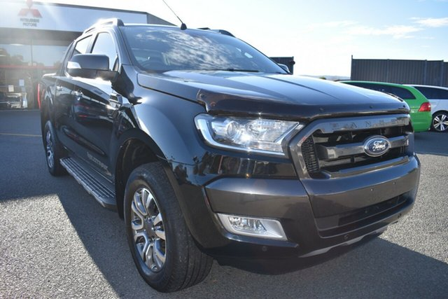 Used Ford Ranger PX MkII 2018.00MY Wildtrak Double Cab Wantirna South, 2018 Ford Ranger PX MkII 2018.00MY Wildtrak Double Cab Black 6 Speed Sports Automatic Utility