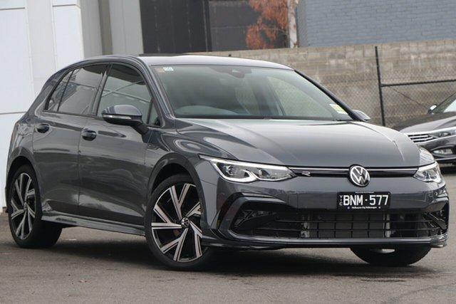 Demo Volkswagen Golf 8 MY21 110TSI R-Line Port Melbourne, 2021 Volkswagen Golf 8 MY21 110TSI R-Line Grey 8 Speed Sports Automatic Hatchback