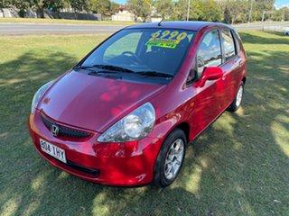 2004 Honda Jazz GD GLi Red 1 Speed Constant Variable Hatchback.