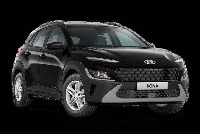 New Hyundai Kona Os.v4 MY21 2WD Hamilton, 2021 Hyundai Kona Os.v4 MY21 2WD Phantom Black 8 Speed Constant Variable Wagon
