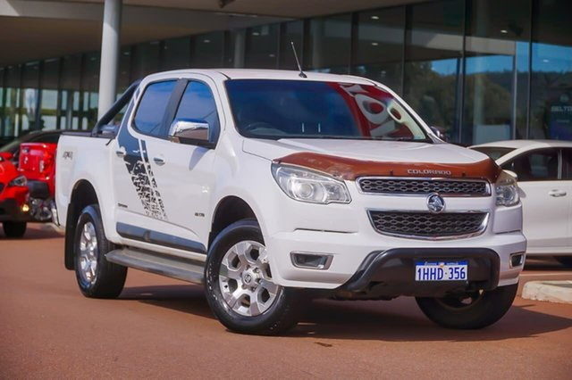 Used Holden Colorado RG MY14 LTZ Crew Cab Gosnells, 2014 Holden Colorado RG MY14 LTZ Crew Cab White 6 Speed Sports Automatic Utility