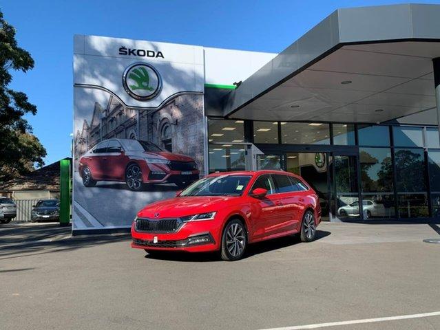 Demo Skoda Octavia NX MY21 110TSI Style Botany, 2021 Skoda Octavia NX MY21 110TSI Style Red 8 Speed Automatic Wagon