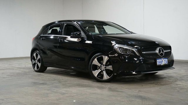 Used Mercedes-Benz A-Class W176 807MY A200 DCT Welshpool, 2016 Mercedes-Benz A-Class W176 807MY A200 DCT Black 7 Speed Sports Automatic Dual Clutch Hatchback