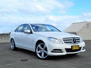 2011 Mercedes-Benz C-Class W204 MY11 C200 CDI BlueEFFICIENCY 7G-Tronic + Elegance White 7 Speed.