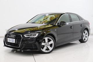 2016 Audi A3 8V MY17 S Line S Tronic Quattro Black 7 Speed Sports Automatic Dual Clutch Sedan.