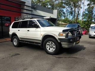 2002 Mitsubishi Challenger PA MY02 LS White 4 Speed Automatic Wagon.